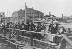 Ellis Island in New York City was a major gateway for European immigration.