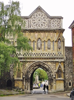 St Ethelbert's Gate at Tombland was built as penance for riots which occurred in the 1270s.