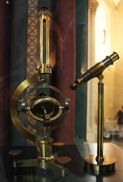 Gyroscope invented by Léon Foucault in 1852. Replica built by Dumoulin-Froment for the Exposition universelle in 1867. National Conservatory of Arts and Crafts museum, Paris.