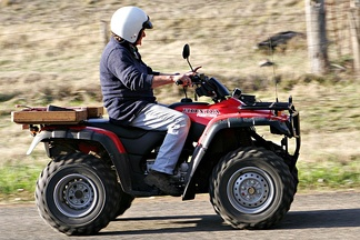 The ATV is commonly called a four-wheeler in Australia, New Zealand, South Africa, parts of Canada, India and the United States. They are used extensively in agriculture, because of their speed and light footprint.