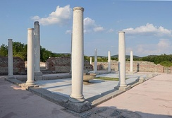 Remnants of the Felix Romuliana Imperial Palace, a UNESCO World Heritage Site; as many as 18 Roman emperors were born in modern-day Serbia[29][30]