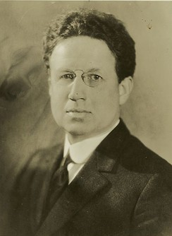 "A 1926 photograph of Harry Emerson Fosdick (1878–1969), whose 1922 sermon ""Shall the Fundamentalists Win?"" sparked the Fundamentalist-Modernist controversy."