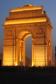 The India Gate in New Delhi was unveiled in 1931 to commemorate the losses of the British Indian Army in World War I and the Third Anglo-Afghan War