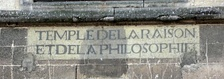 Inscription on church at Ivry-la-Bataille.