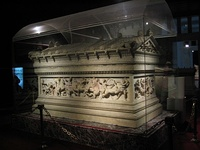 The Alexander Sarcophagus, found at the Necropolis of Sidon