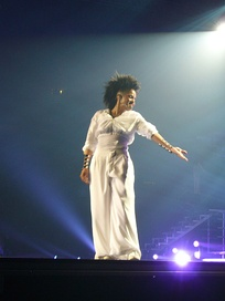 Jackson performing during the Rock Witchu Tour