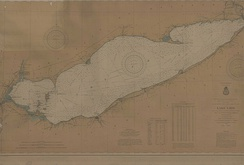 Lake Erie historical map, 1901