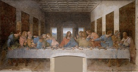 The Last Supper by Leonardo da Vinci, depicting Jesus with his twelve Apostles