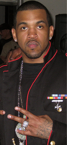 "Lloyd Banks on the set of the ""Rider Pt. 2"" music video in 2008"