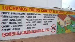 Information campaign for prevention of dengue and yellow fever in Paraguay
