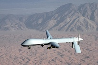 US Air Force MQ-1 Predator drone flown remotely by a pilot on the ground