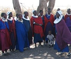 Maasai women and children (Nilo-Saharan)