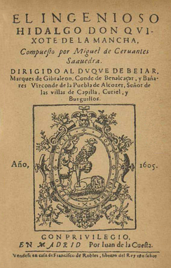 Cervantes's Don Quixote is considered the most emblematic work in the canon of Spanish literature and a founding classic of Western literature.