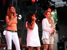 Monrose performing at the ColognePride 2009 in July 2009.