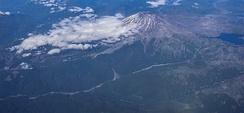 View of Mount St. Helens from a commercial airliner, July 2007