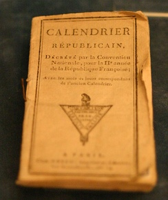 A copy of the French Republican Calendar in the Historical Museum of Lausanne