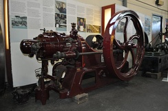 Hornsby oil engine at the Museum of Lincolnshire Life