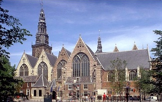 Oude Kerk, the Amsterdam church where Sweelinck worked almost his entire life.