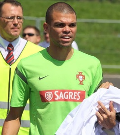 Pepe with Portugal in 2012