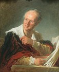 "Jean-Honoré Fragonard, Portrait of Denis Diderot, 1769, Louvre, Paris. His art criticism was highly influential. His Essais sur la peinture was described by Johann Wolfgang von Goethe, as ""a magnificent work, which speaks even more helpfully to the poet than to the painter, though to the painter too it is as a blazing torch."" Diderot's favorite painter was Jean-Baptiste Greuze.[7]"