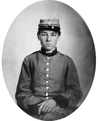 Private Edwin Francis Jemison, whose image became one of the most famous portraits of the young soldiers of the war.