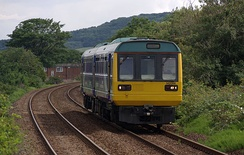 Northern Rail diesel multiple unit on the Tees Valley Line at Redcar East