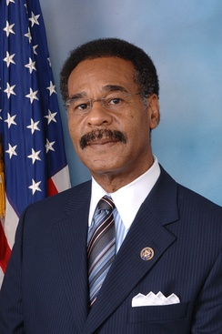Emanuel Cleaver, who was re-elected as the U.S. Representative for the 5th district