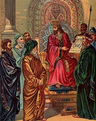 Solomon planning the building of the temple.