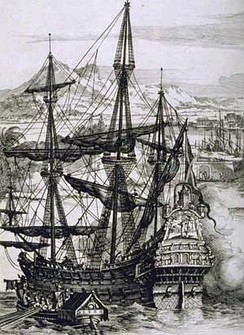 A sketch of a Manila galleon used during the Manila-Acapulco Trade