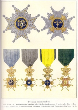 The Royal Orders of Sweden constituting the Royal Order of Knights