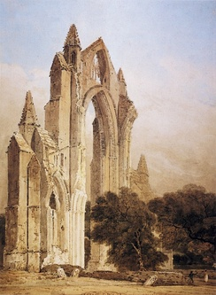 The ruins of Gisborough Priory in 1801, painted by Thomas Girtin