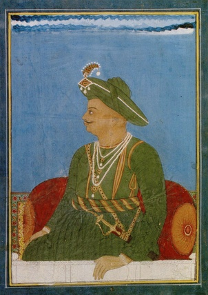 A portrait of Tipu Sultan, made during the Third Anglo-Mysore War