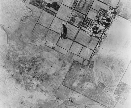 Castel Benito airport under attack in 1943