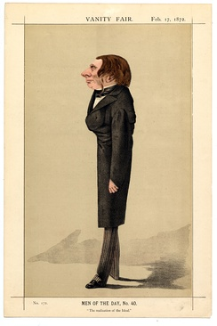 Caricature by Adriano Cecioni published in Vanity Fair in 1872
