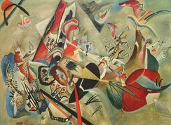 In Grey (1919) by Kandinsky, exhibited at the 19th State Exhibition, Moscow, 1920