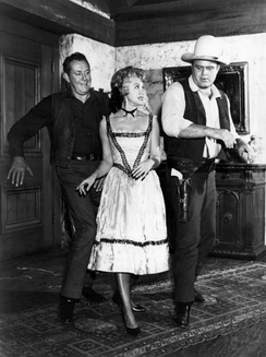Vaughn Monroe, Susie Scott, and Dan Blocker dance in Bonanza (1962)