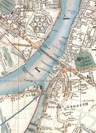 Vauxhall Bridge and Nine Elms station in 1847