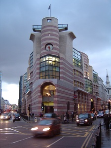 No 1 Poultry, an office building and shops in London, by James Stirling (completed 1997)