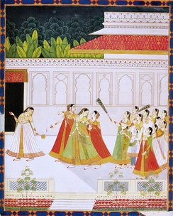 New entrant to a prince's harem. Jaipur, late 18 century, National Museum, New Delhi