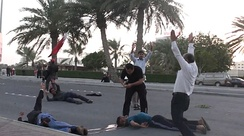 Bahraini protesters shot by security forces, February 2011