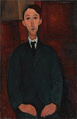 Amedeo Modigliani, Portrait of the painter Manuel Humbert, 1916