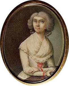 Haydn's wife. Unauthenticated miniature attributed to Ludwig Guttenbrunn