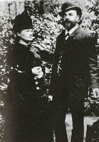 Dvořák with his wife Anna in London, 1886.