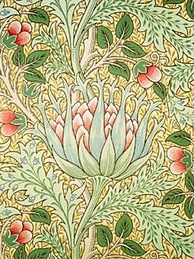 "Arts and Crafts movement ""Artichoke"" wallpaper by Morris and Co."