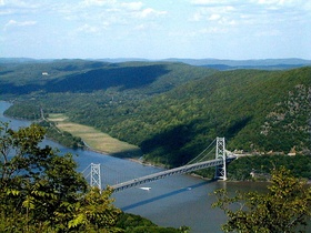 Bear Mountain Bridge, connecting northern Westchester and Rockland counties