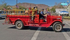 Beatty Volunteer Fire Department antique fire engine in a 2006 parade