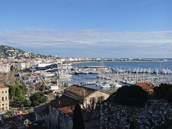 Cannes seen from Le Suquet