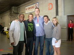Dulé with the rest of the main cast of Psych