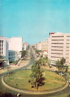 Dhaka's central business district in the 1960s