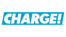 The original logo for Charge!, used from February 28, 2017 to April 2, 2020.